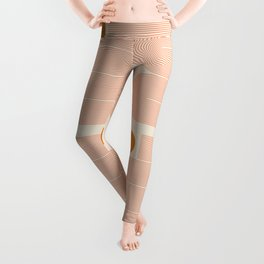 Abstraction_SUN_LINE_ART_Minimalism_002 Leggings