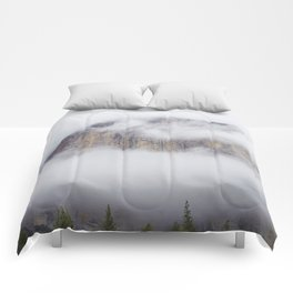 Foggy Mountain (Color) Comforters
