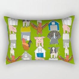 farm pop green Rectangular Pillow