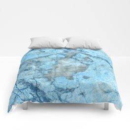 Ocean Blue Mermaid Marble Comforters