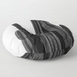 Cactus Black & White Floor Pillow
