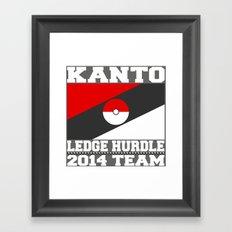 Kanto Ledge Hurdling Team White Outliens Framed Art Print