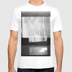 distortion White Mens Fitted Tee MEDIUM