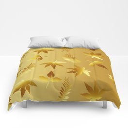 Gold leaves Comforters
