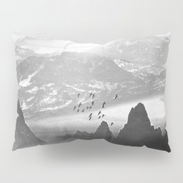 Black and White - Winter. Melody... Pillow Sham