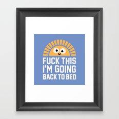 Moment In the Sun Framed Art Print