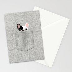 Pocket French Bulldog - Pied Stationery Cards