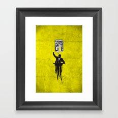 Political speech! Framed Art Print