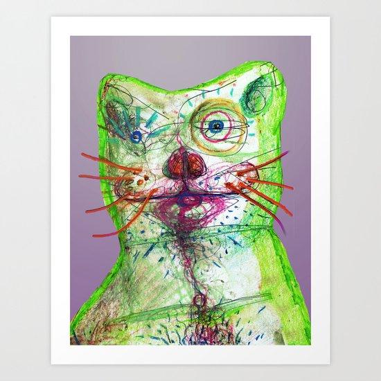 Dirty Bear Art Print