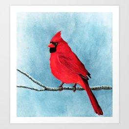 red looks good on me Art Print