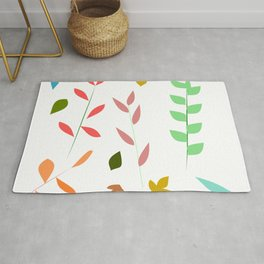 Colorful grasses Rug