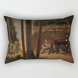 In Front of Yorktown by Winslow Ho mer (1862-63) Rectangular Pillow