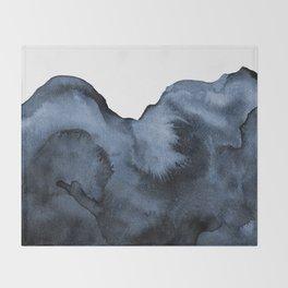 Watercolor Splash in Blue Throw Blanket