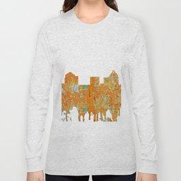 Greensboro, NC Skyline - Rust Long Sleeve T-shirt