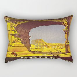 Vintage poster - Rome Rectangular Pillow