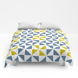 Pinwheel Quilt Blue and Yellow Comforters