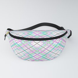 Pattern the cage .Pink and turquoise . Fanny Pack