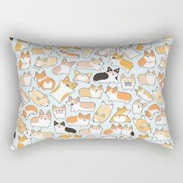 Corgilicious Corgi Doodle Rectangular Pillow