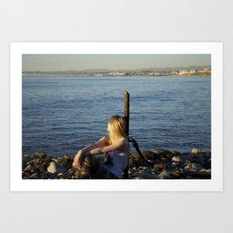 LA beaches Art Print