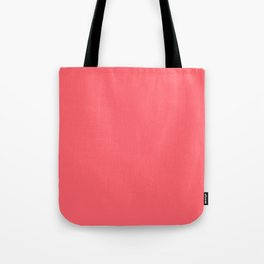 Coral Red Tote Bag
