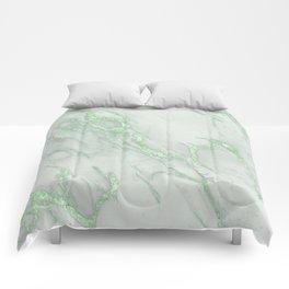 Marble Love Green Metallic Comforters