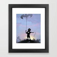 Bat Kid Framed Art Print