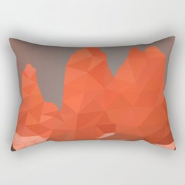 Torres del Paine National Park Low Poly Art Rectangular Pillow