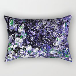 TREES PURPLE AND WHITE Rectangular Pillow