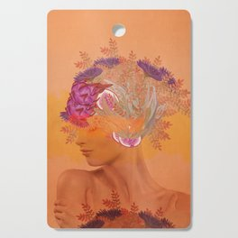 Woman in flowers III Cutting Board