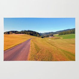 Country road with scenery   landscape photography Rug