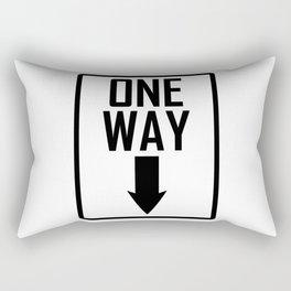One way sign Rectangular Pillow