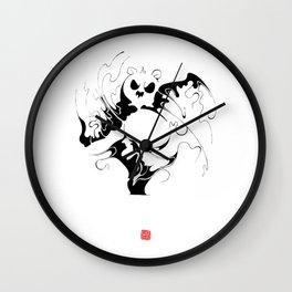 Panda fighting Wall Clock