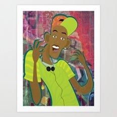 fresh prince Art Print
