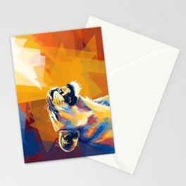 In the Sunlight - Lion portrait, animal digital art Stationery Cards