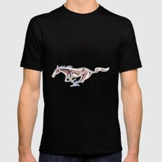 Mustang..... Black LARGE Mens Fitted Tee
