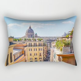 ROME the Streets:  Rooftop View of Rome, Italy Rectangular Pillow