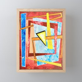 Spontaneous Geometric 1 Framed Mini Art Print