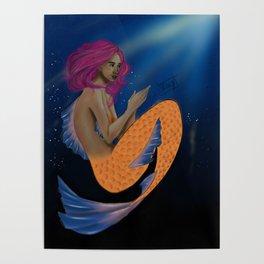 Deep Sea Pink Poster