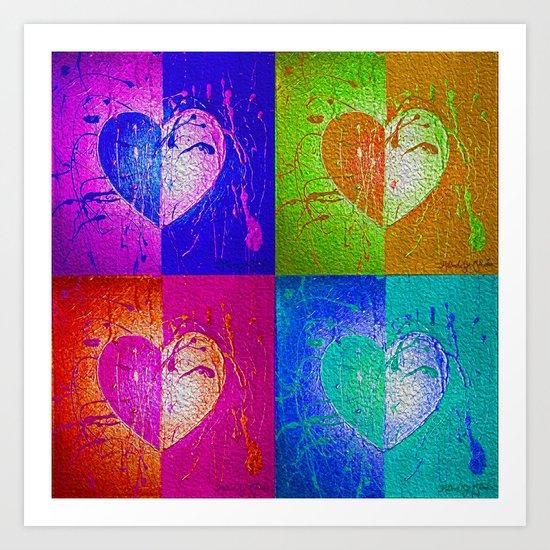Pop Hearts Art Print