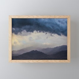 Blue Storm Framed Mini Art Print