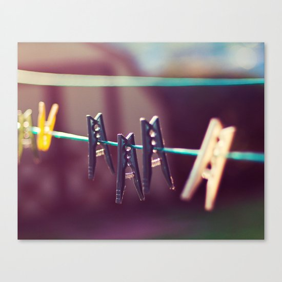 Pegs Canvas Print