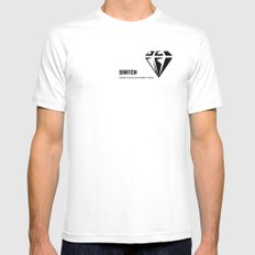 Snatch White MEDIUM Mens Fitted Tee