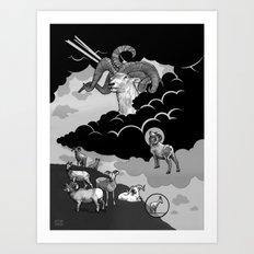 Goat Mountain / The Birth of Light Art Print
