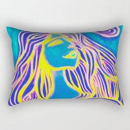 Lotus Turtle Yellow Fire Rectangular Pillow