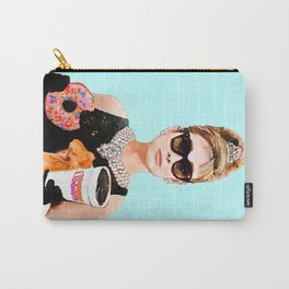 Breakfast at Dunkin Donuts - Audrey Hepburn Carry-All Pouch