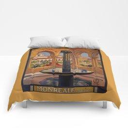 Palermo Monreale vintage 1920s Italian travel ad Comforters