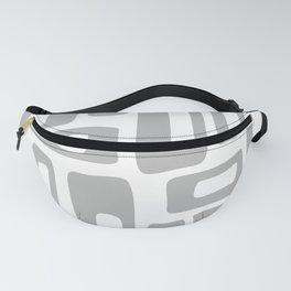 Retro Mid Century Modern Abstract Pattern 336 Gray Fanny Pack