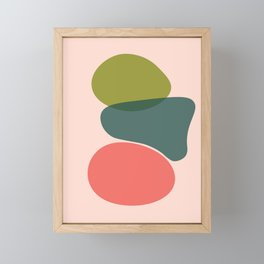Living Coral Abstract 6 Framed Mini Art Print