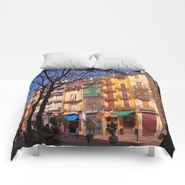 Valencia Colorful Facades Comforters
