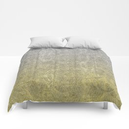 Silver and Gold Glitter Gradient Comforters